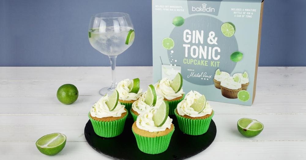 Gin Tonic Cupcake Kit BakedIn
