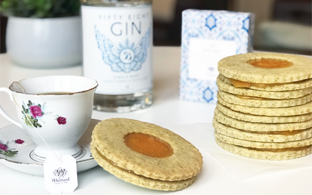 Earl Grey biscuits gin grapefruit curd The Gin Baker