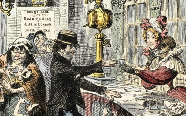 Victorian gin shop