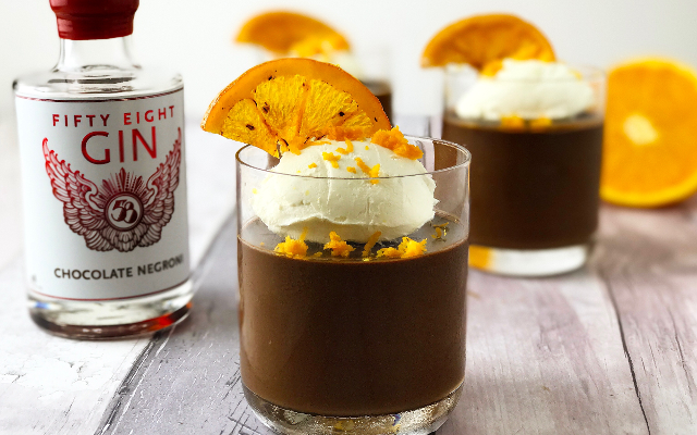 Chocolate Negroni Mousse with 58 Gin