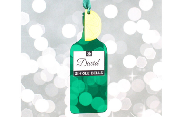 personalised gin tree decoration