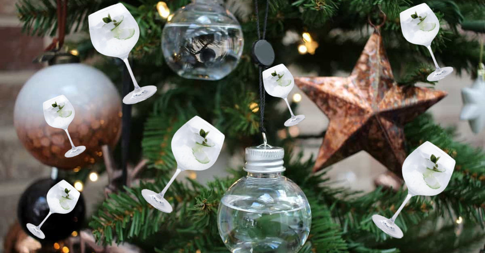 Christmas Tree Gin Decorations