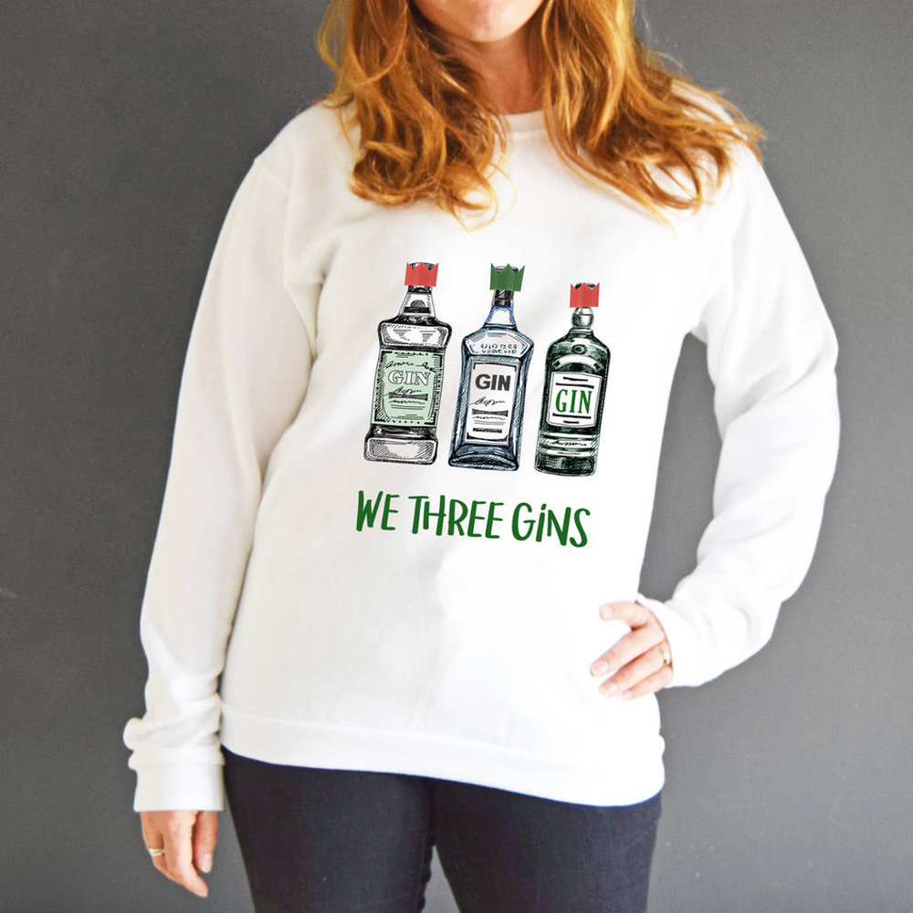 We Three Gins Nativity Christmas Jumper