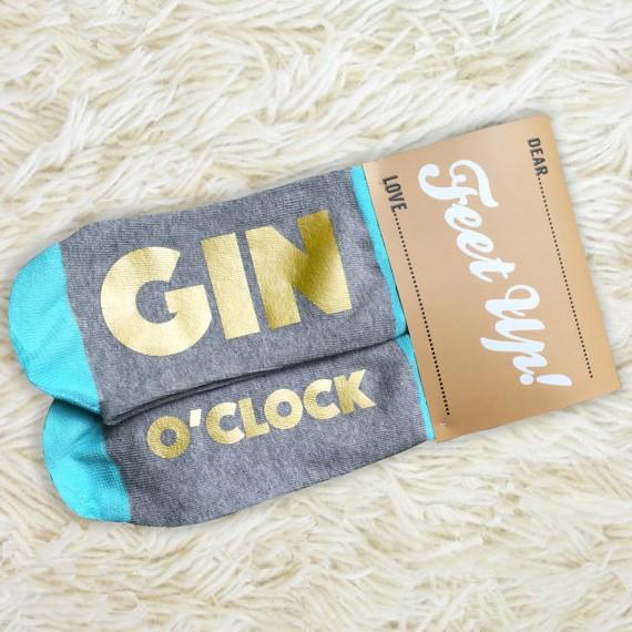 Gin O'Clock Socks Etsy