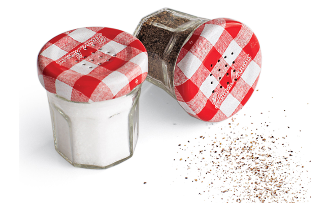 bonne maman salt and pepper shakers