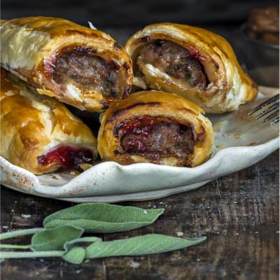 Cranberry Sausage Rolls
