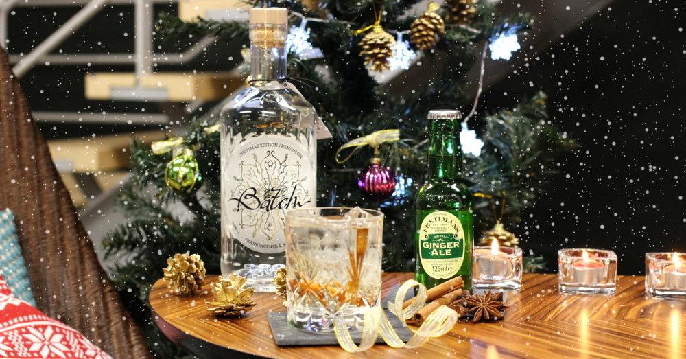 Batch Christmas Cinnamon Gin Cocktail