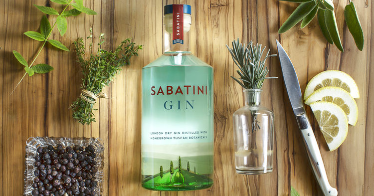Sabatini Italian Tuscan Gin Botanicals