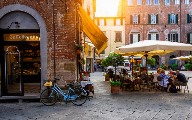 Italy caffetteria sunset