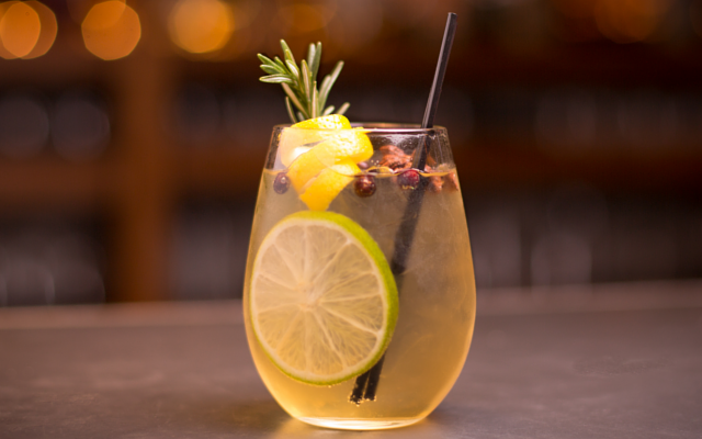 Lemon Verbena Gin Gimlet Cocktail