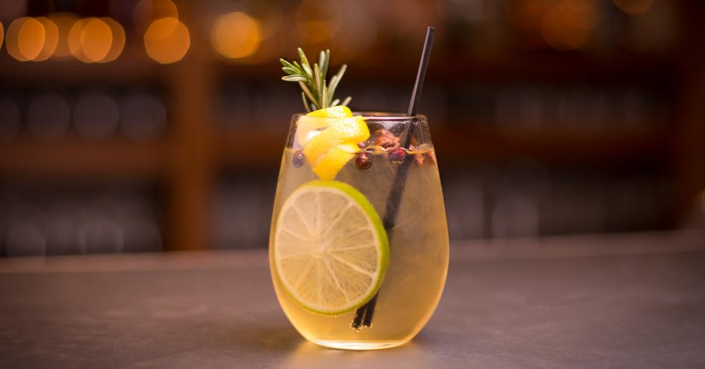 Lemon Verbena Gin Gimlet Cocktail