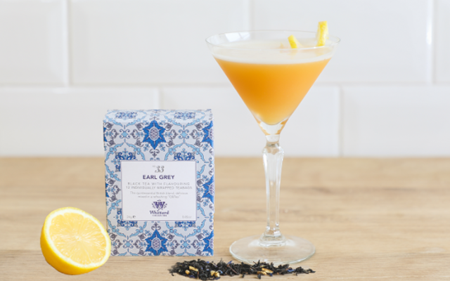 Whittard of Chelsea Earl Grey Martini. Box of earl grey and a lemon