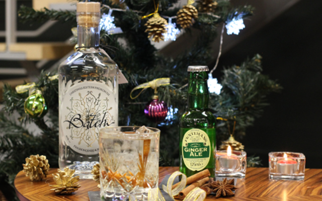 Fentimans Ginger Ale, Batch Gin and christmas tree