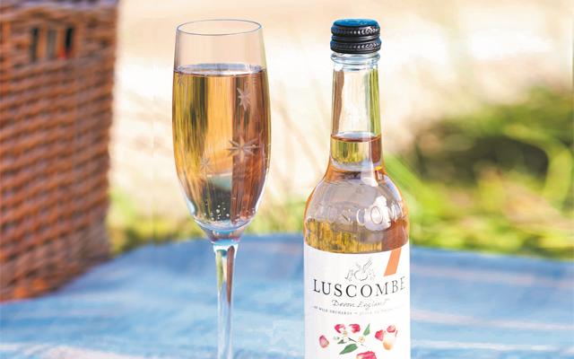 Luscombe Damascene Rose Bubbly Gin Fizz