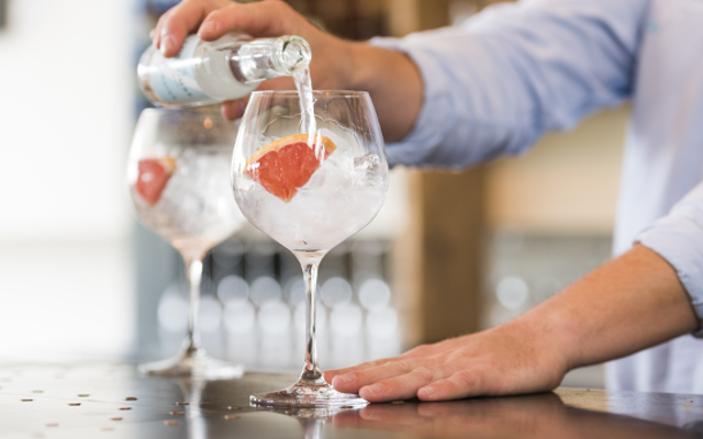 Salcombe Gin and TOnic with grapefruit and luscombe tonic