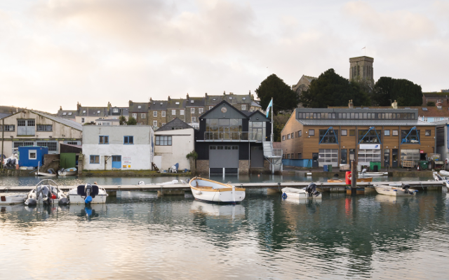 Salcombe Distillery in Devon boatyard