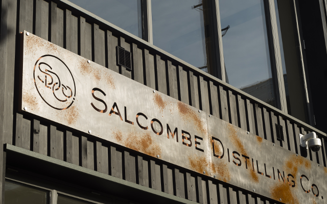 Salcombe Distillery door sign
