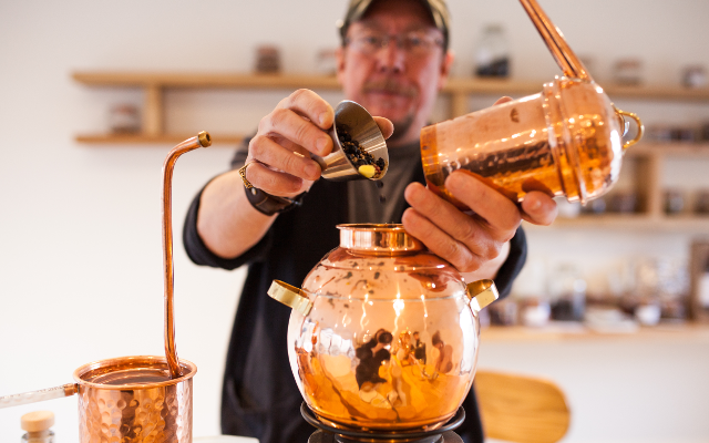 Gin copper still