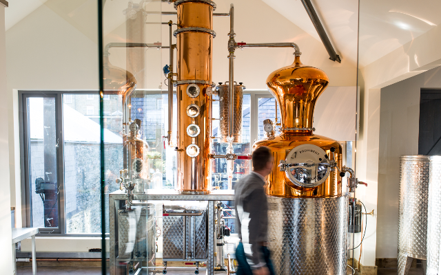 Salcombe distillery copper still