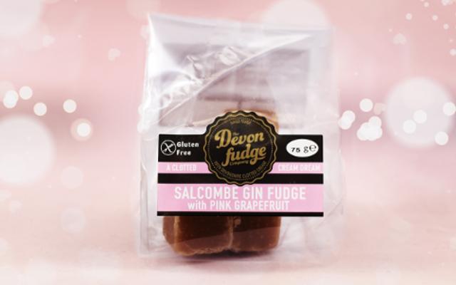 Devon fudge company salcombe gin and pink grapefruit fudge