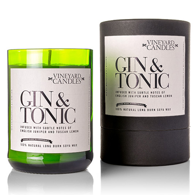 Gin Tonic Scented Candle Vineyard Candles