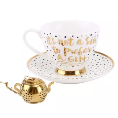 Gin Quote Saucer Infuser Set Trouva