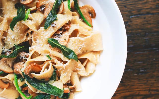 Mushroom Herb Creamy Pasta Dinner Entree