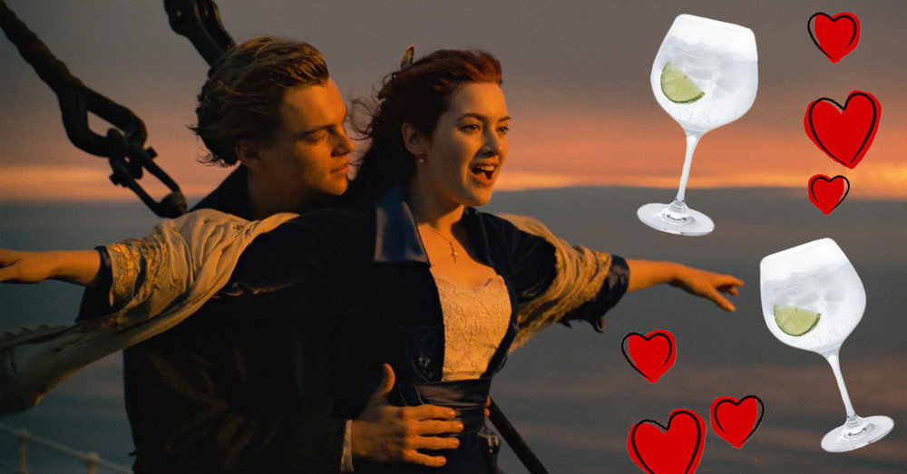 Jack Rose Titanic Gin copas