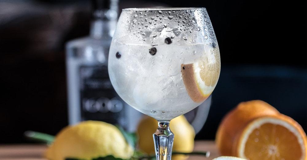 Craft gin tonic copa citrus