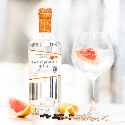 Salcombe Gin with gin tonic