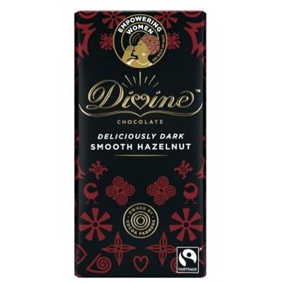Divine Chocolate Deliciously Dark Smooth Hazelnut bar