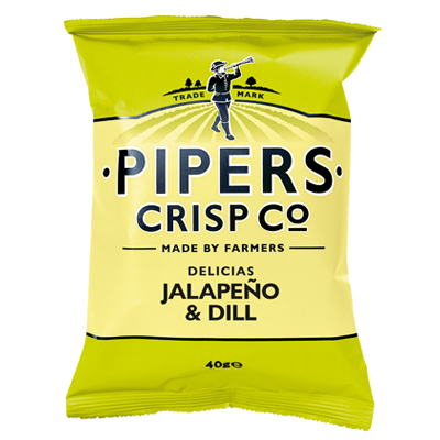 Pipers Crisps Jalapeno Dill