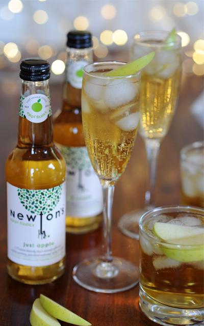Newton's appl fizzics Gin Fizz cocktail