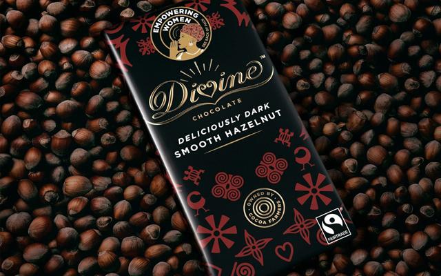 Divine Chocolate Deliciously Dark Smooth Hazelnut
