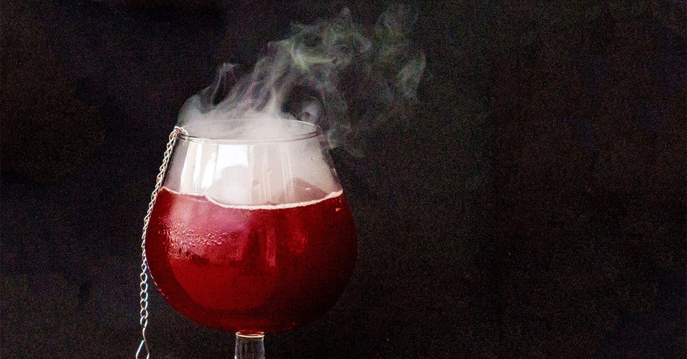 Alchemistry Molecular Cocktail Bar drink with smoke