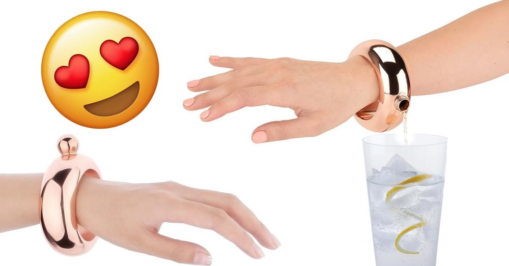 gin bracelet flask