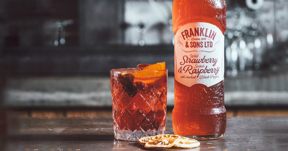 Franklin Sons Strawberry Raspberry Palmers Jam gin cocktail