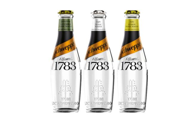 Schweppes 1783 premium tonic water salty lemon cucumber and light tonic