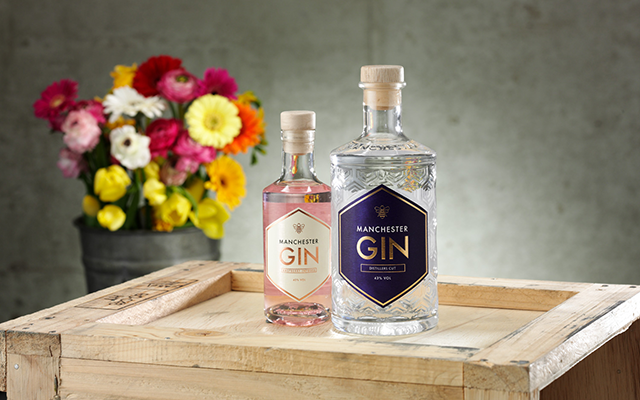 Manchester raspberry gin and distillers cut