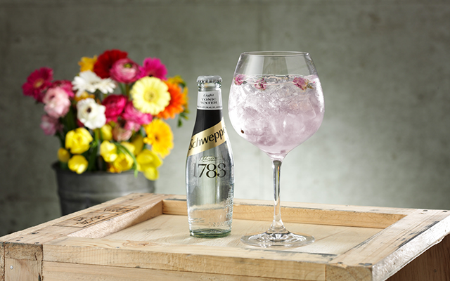 Manchester Raspberry infused gin with Schweppes light tonic