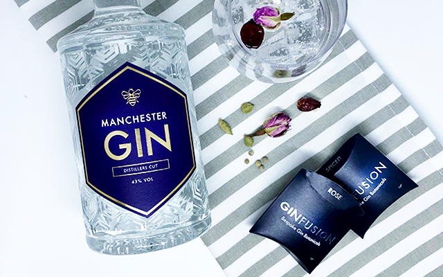 Ginfusion botanicals and Manchester gin