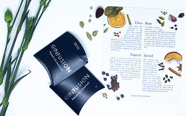 ginfusion botanicals and recipe cards