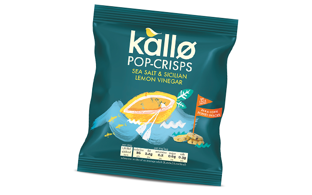 Kallo Pop-Crisps Sea Salt and Sicilian Lemon Vinegar
