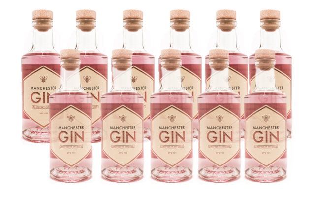 Manchester gin raspberry infused gin