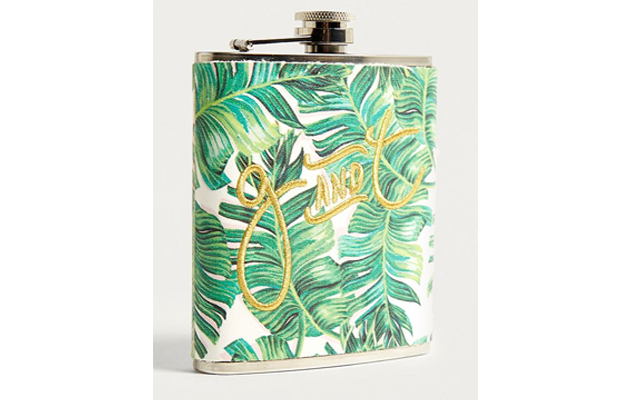 Palm leaf hipflask