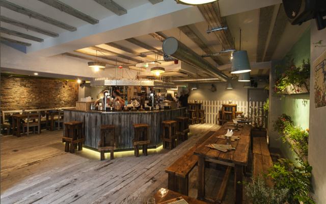 The allotment bar in manchester interior