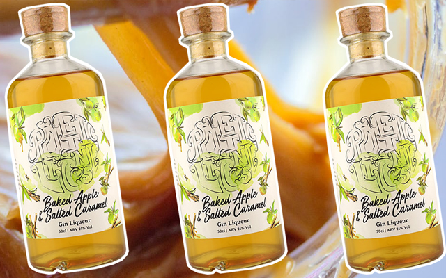 Baked apple and salted caramel flavoured gin poetic license