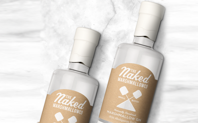 Marshmallow flavoured gin The Naked marshmallow co.