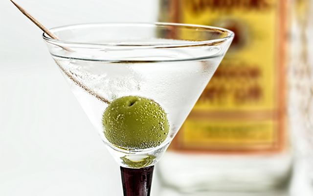 Gin Martini with Olive