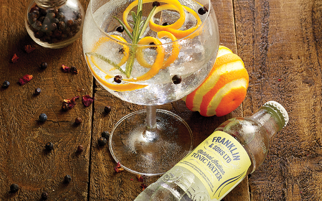 Franklin and sons Indian Tonic water+gin and tonic+juniper berries+orange+peel+rosemary